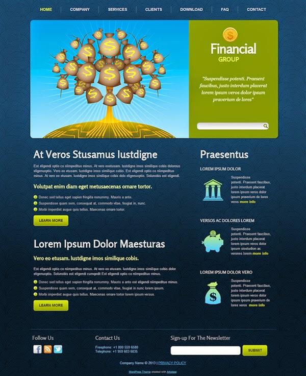 Financial Group - Free Wordpress Theme
