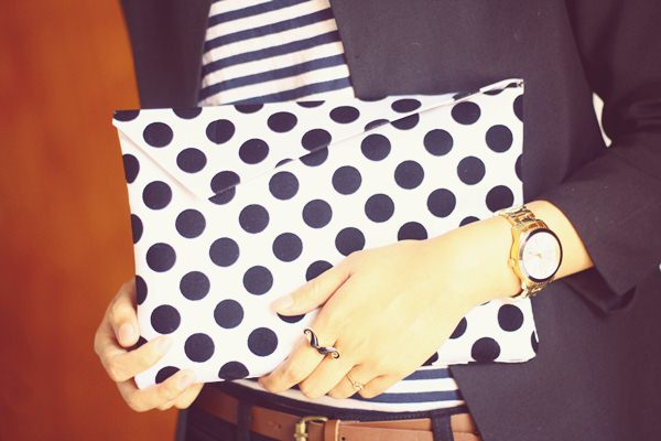 Polka Clutch Bag
