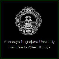 Acharya Nagarjuna University BA BSc BCom BBA BCA Result