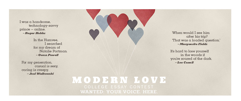 new york times modern love college essay contest