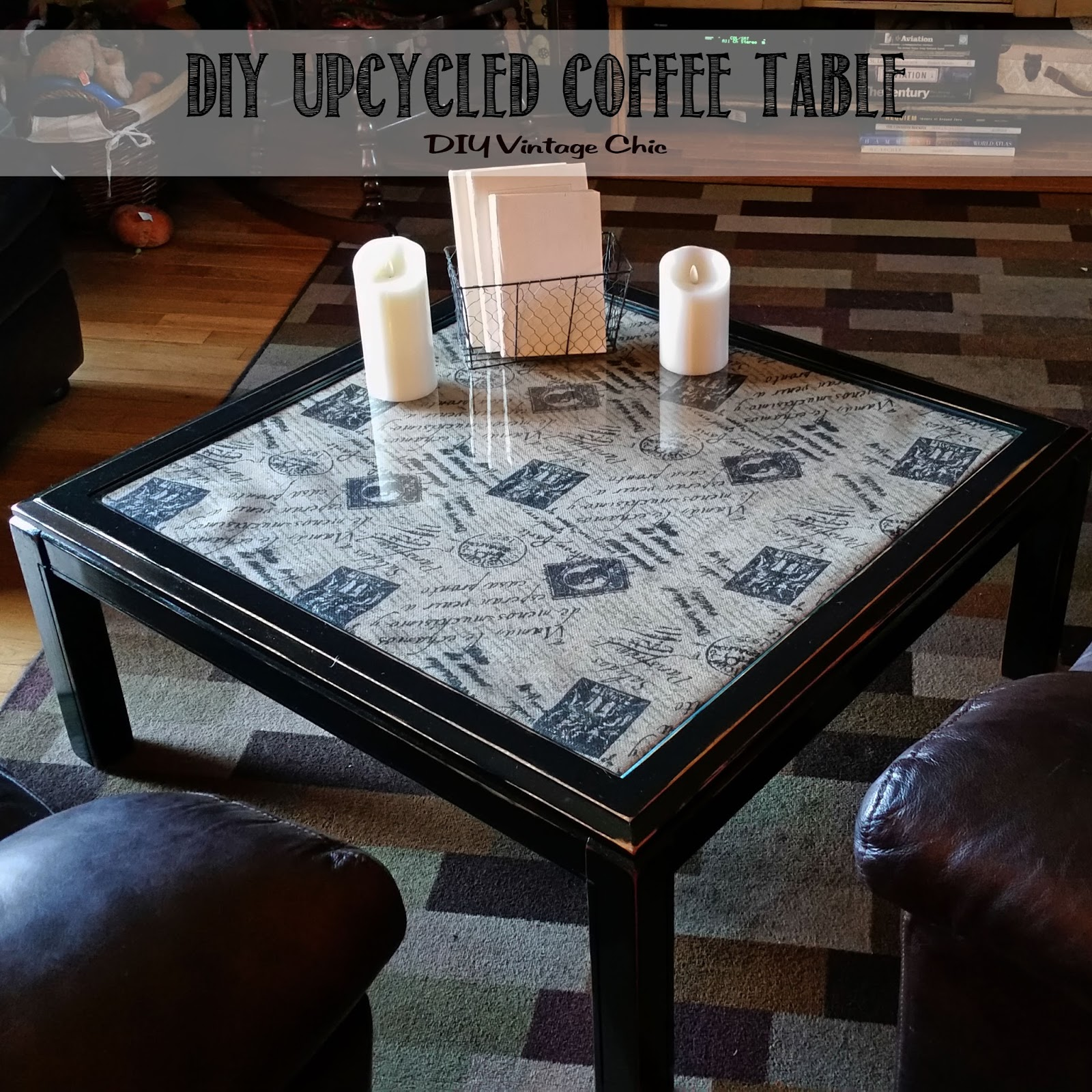 DIY Vintage Chic DIY Upcycled Coffee Table