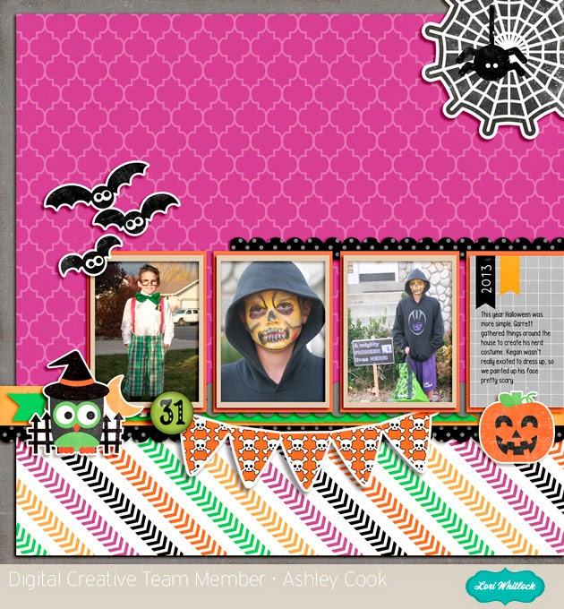 Lori Whitlock Cute Spooks layout by Ashley Cook