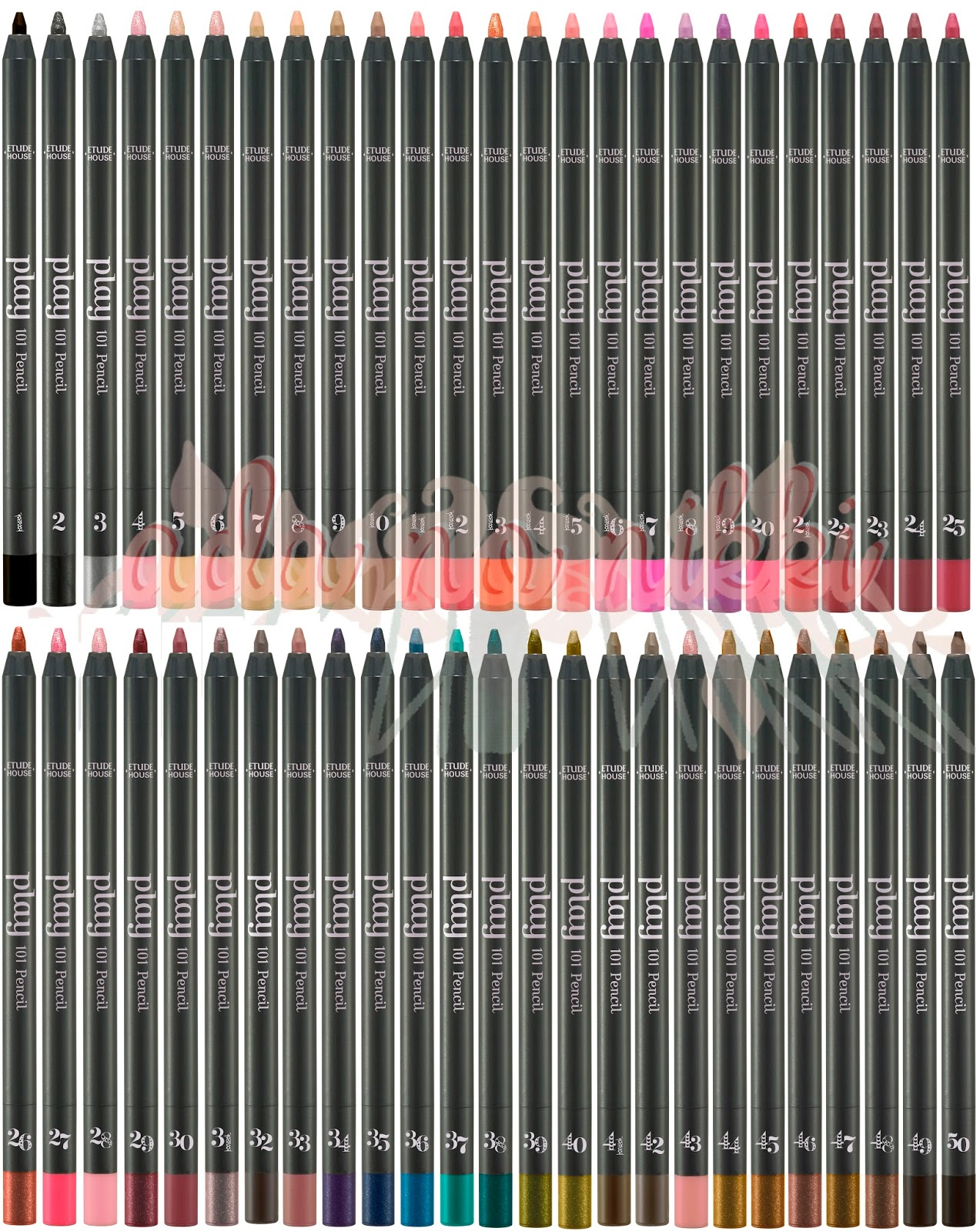 Etude House Play 101 Pencils matte, cream, glossy, glitter, shimmery, finish