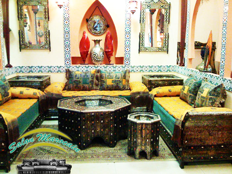 Salon Traditionnel Marocain : Salon marocain top modele décoration