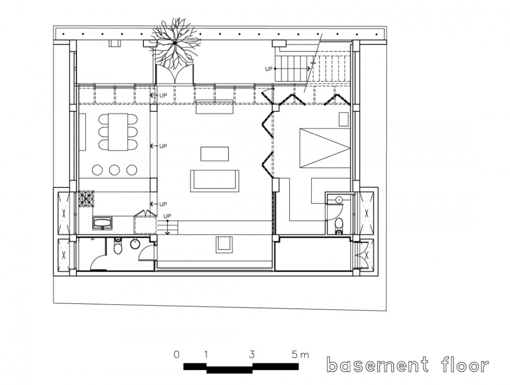basement floor plan drawing courtesy of iroje khm architects