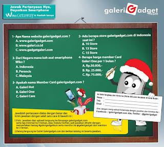 Info Kuis - Kuis Galeri Gadget Berhadiah Smartphone Keren
