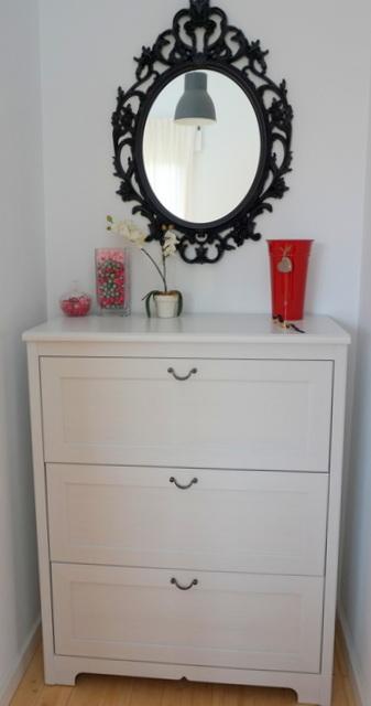 cómoda blanca vestidor
