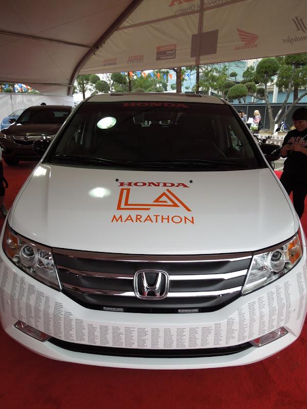 LA Marathon Honda car names