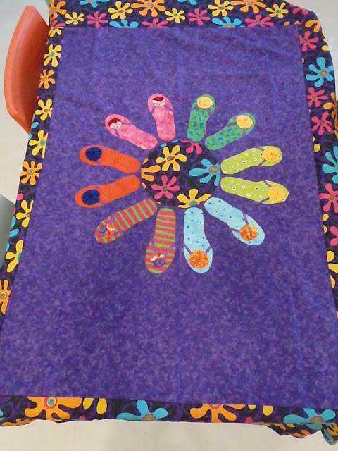 Flip Flop Applique Quilt
