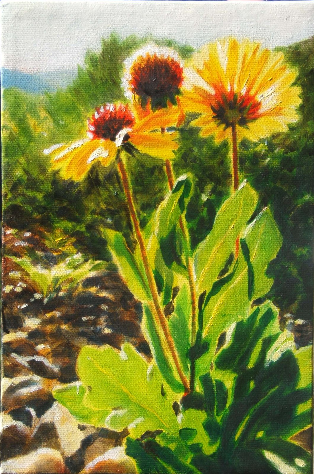 """9"""" x 6"""" oil on canvas, copyright Tina M. Welter"""