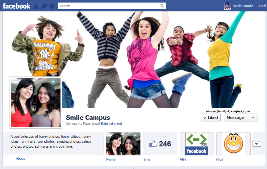 Facebook Fan Page of Smile-Campus.com