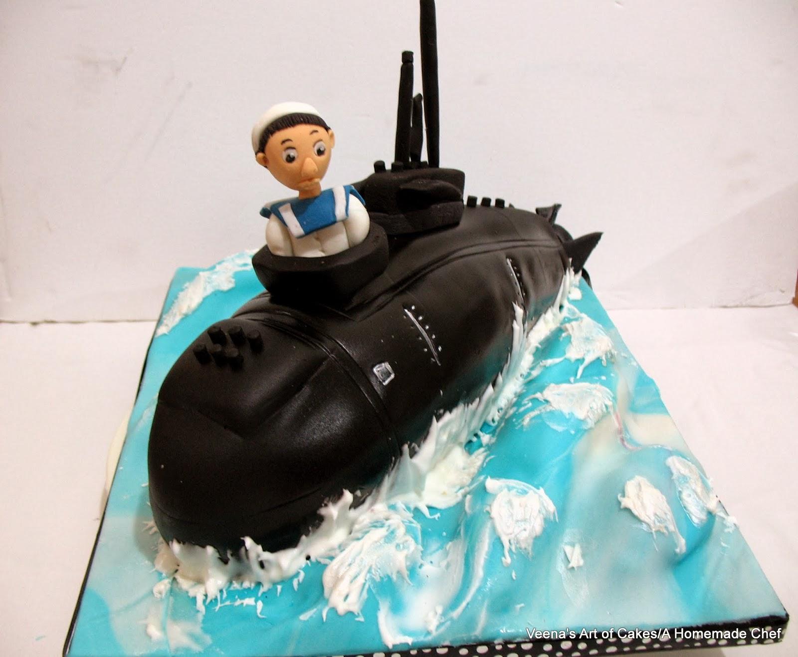 Veena Art Of Cake Fondant Recipe : Submarine Cake - Veena Azmanov