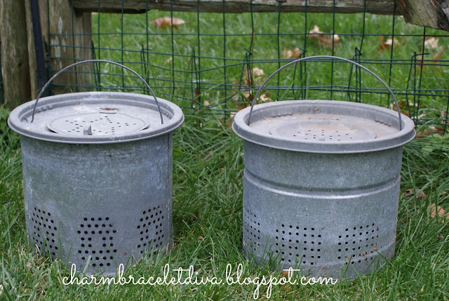 vintage galvanized minnow buckets