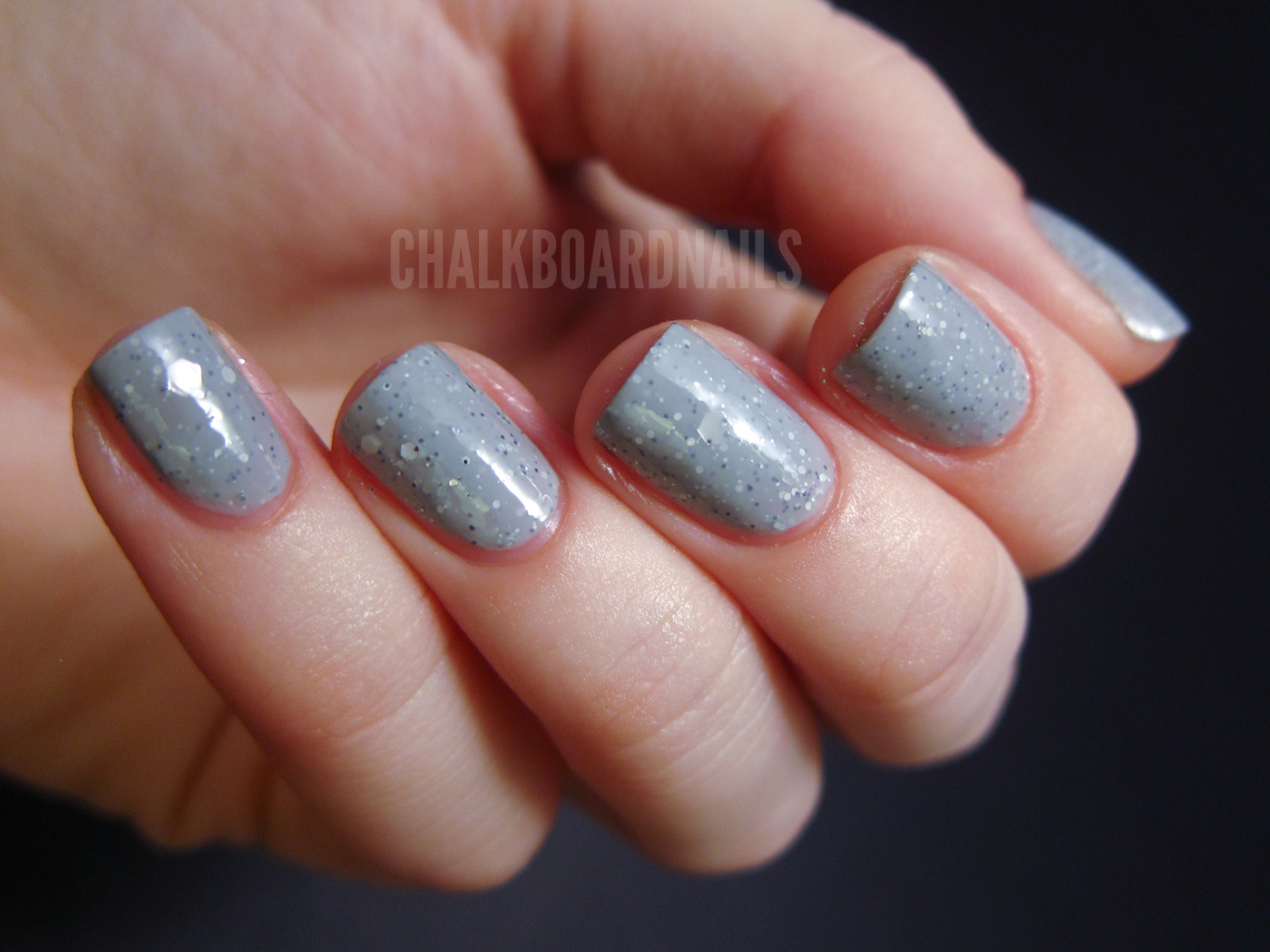 Nerd Lacquer Don\'t Blink | Chalkboard Nails | Nail Art Blog