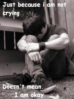 Crying Sad Boy   Sayings 240x320 Mobile Wallpaper   Mobile