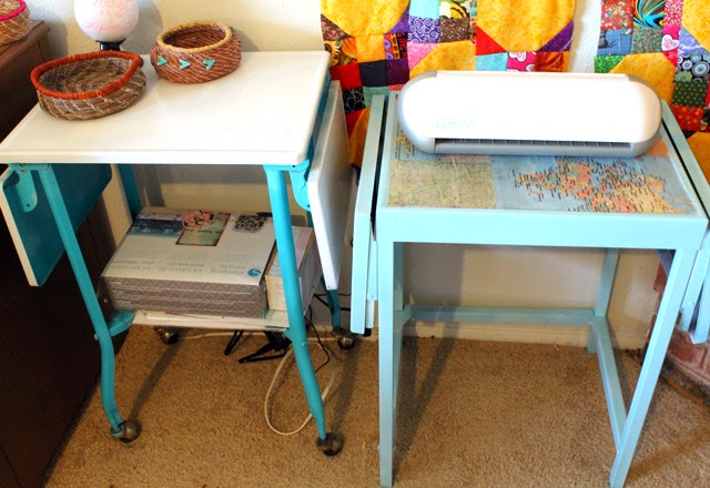 Restyled Cart using Hazel & Ruby's DIY Decor Tape