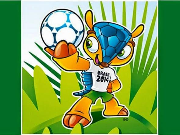 mascote da Copa colorido