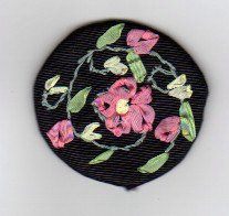 Completed Silk Ribbon Embroidery Miniature
