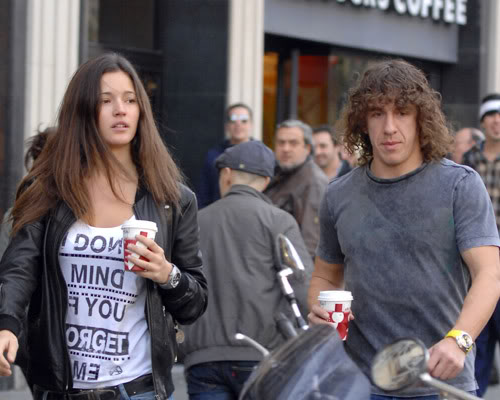 Carles Puyol and his Wife