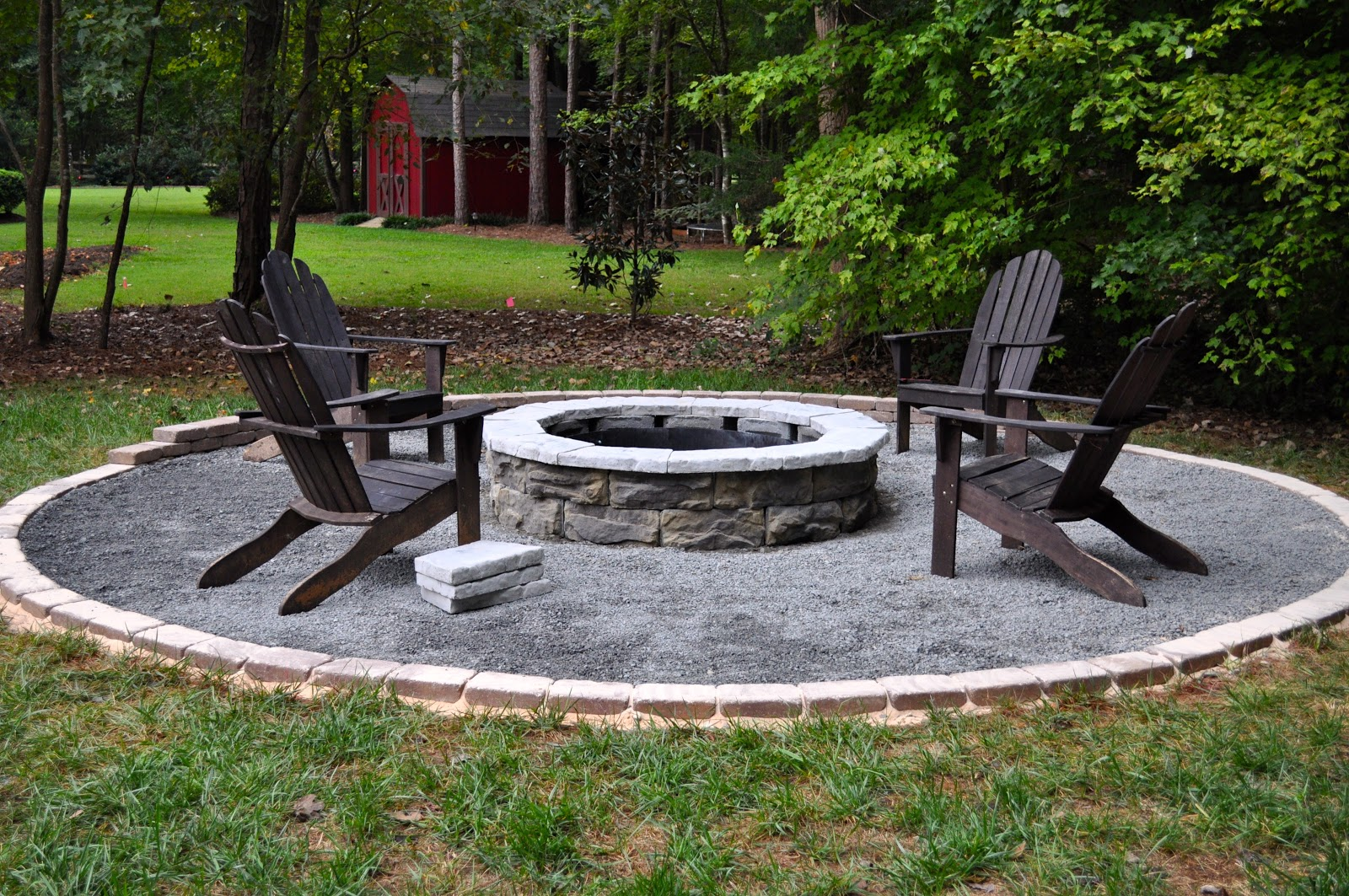 The collected interior our diy fire pit for Backyard rock fire pit ideas