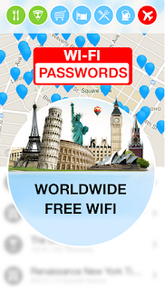 معرفة كلمة السر للويفي القريب منك باستعمال تطبيق Wifi Map