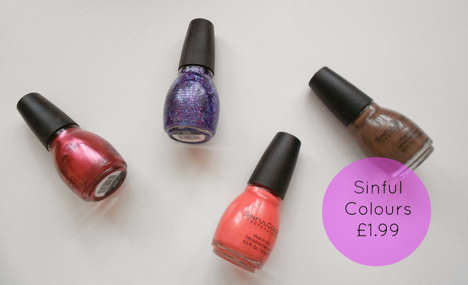 sinful colours nail polish uk dancing nails island coral nirvana frenzy