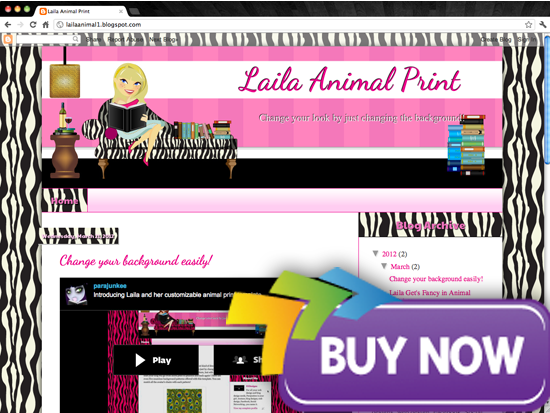 purhcase blondie Avatar Design Templates   Lailas Book Blogger Design