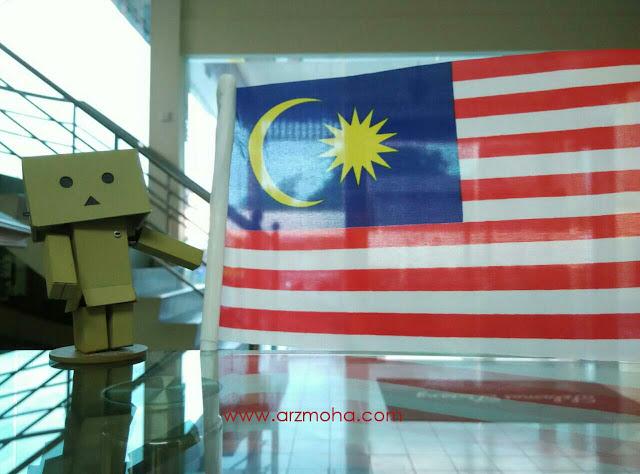 Danboard, bendera Malaysia, hari Malaysia, gambar Danboard dengan bendera Malaysia,