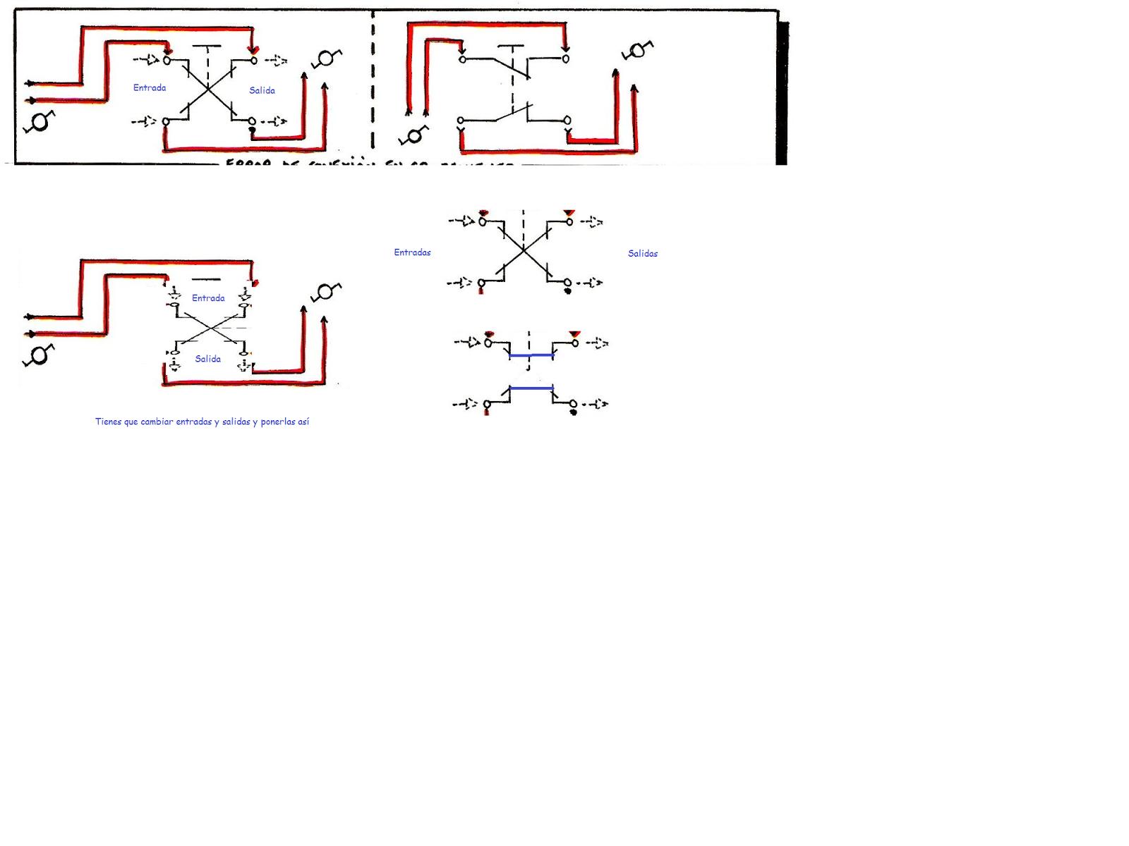 interruptores y conmutadores esquemas electricos angelatedo