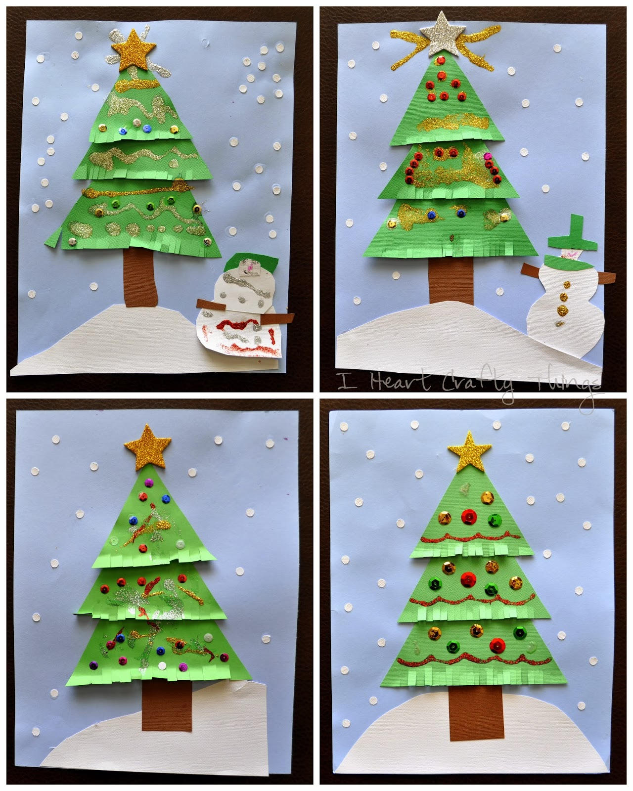 Kids Christmas Tree Craft Collage
