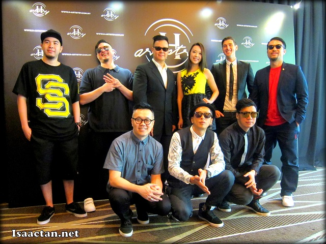 A group photo of the artistes performing at H-Artistry Penang 2013