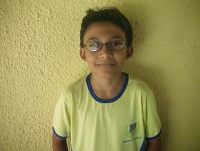 5º Colocado Geral na escola, aluno Abraão Levi Barros de Oliveira do 6º Ano C com média final 9,6