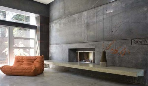 15 ideas dise o de interiores con paredes de concreto u hormig n decorando mejor - Paredes de hormigon ...
