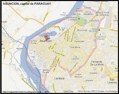 Mapa de ASUNCION, capital de PARAGUAY