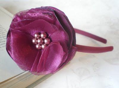 как сделать ободок с розой