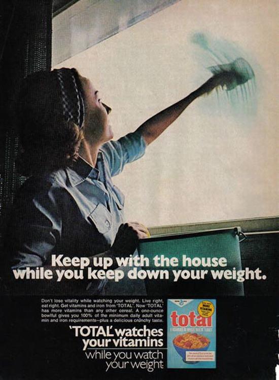 Propaganda machista do ceral Total, veiculada nos Estados Unidos nos anos 80.