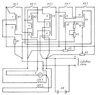 Принципиальная схема реле-регулятора РРТ-32