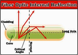 Fiber Optic Internal Reflection