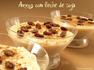 Receta para preparar dulce de arroz con leche de soya