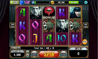 First screenshot from Dark Desires Slots game