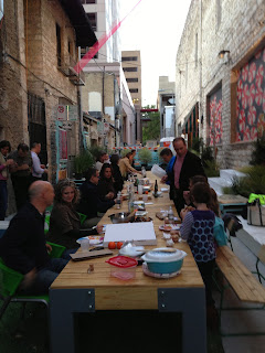 Dinner in downtown Austin alley