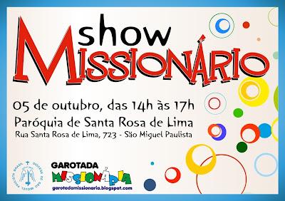 Show abrirá Campanha Missionária na Diocese de São Miguel Paulista (SP)