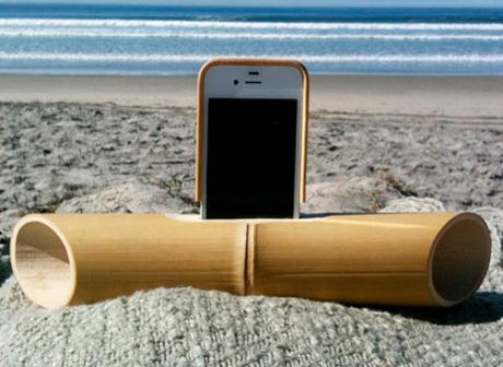 Hasil gambar untuk speaker bambu