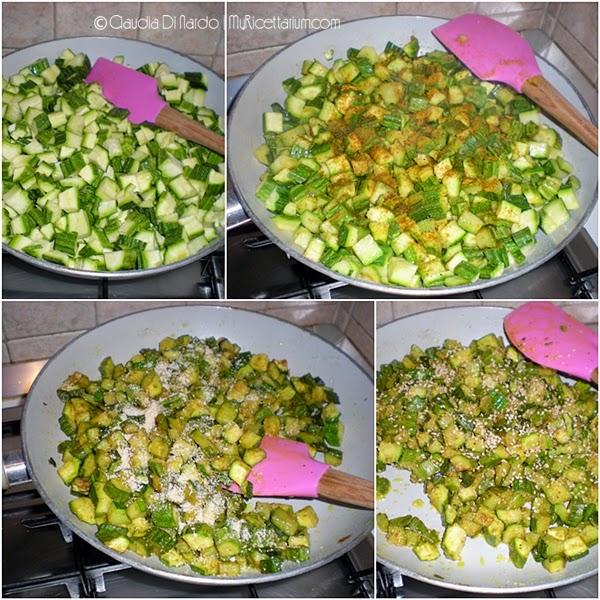 Zucchine al curry con semi di sesamo