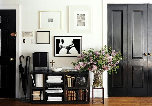 Low sheen glossy black interior door doors living room rustic mid finished in a low sheen paint it creates a more subdued vibe it looks perfectly at home in this mid century modern office planetlyrics Image collections