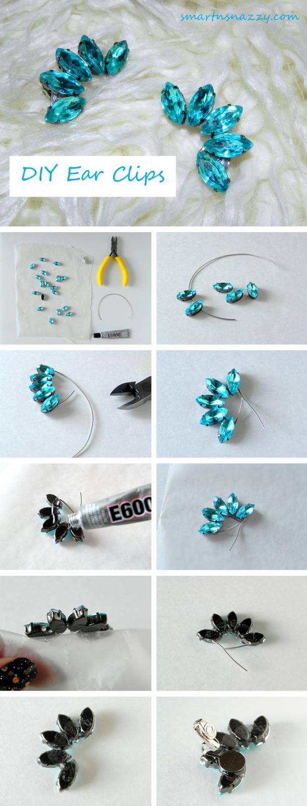 Smart n Snazzy: DIY ~ Rhinestone Ear Cuffs