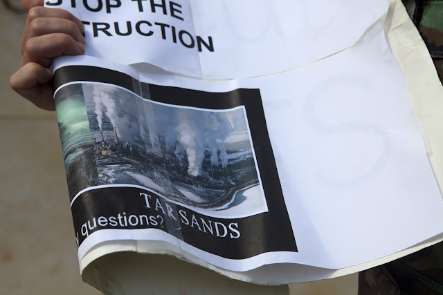 canadian tar sands, keystone XL pipeline protest and rally, el segundo, john hancock life insurance co rally, pollution, climate change rally