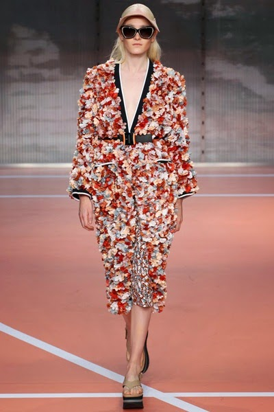 Marni Sprin/Summer 2014 Terracotta 3D Flowers Duster Coat