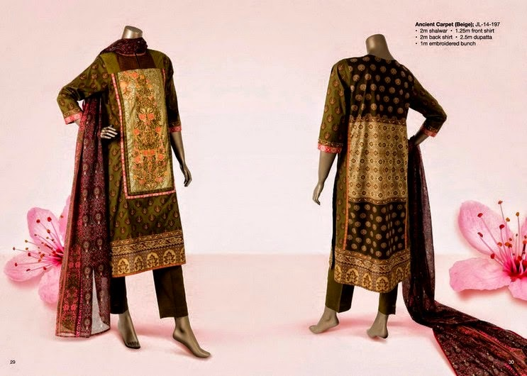 Printed and Embroidered lawn Prints by Junaid Jamshed