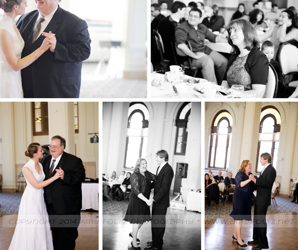 photos of bride dancing with her father at O'Shaughnessy Hall